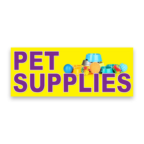 Pet Supplies Vinyl Banner (Size Options)
