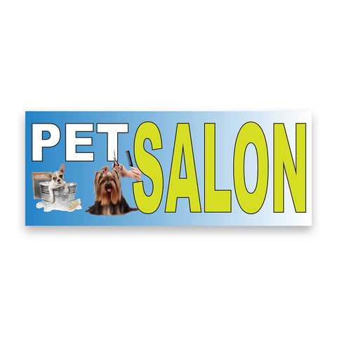 Pet Salon Vinyl Banner (Size Options)