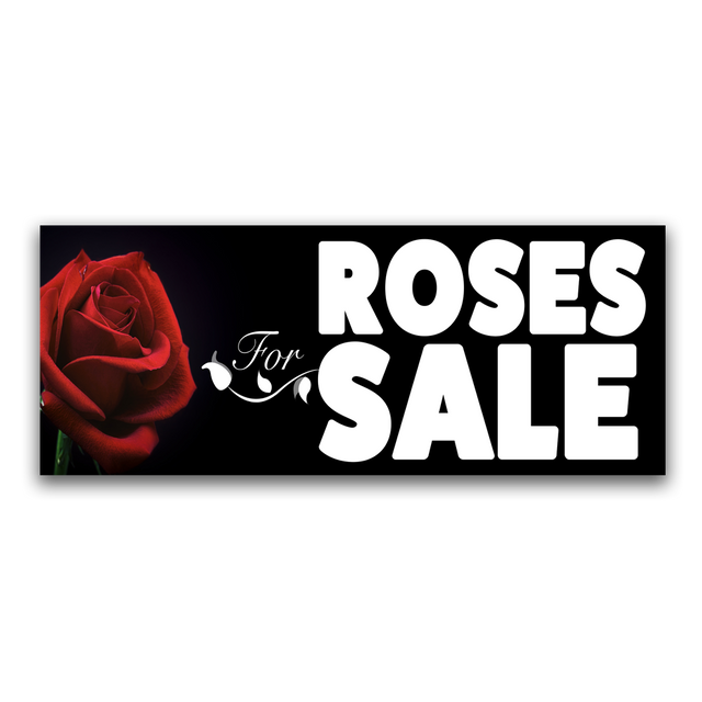 Roses For Sale Vinyl Banner (Size Options)