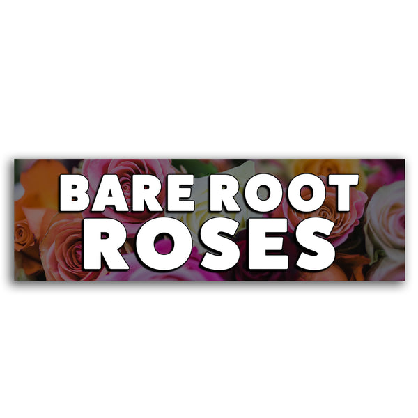 Bare Root Roses Vinyl Banner (Size Options)