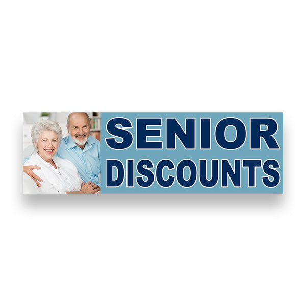 Senior Discounts Vinyl Banner (Size Options)