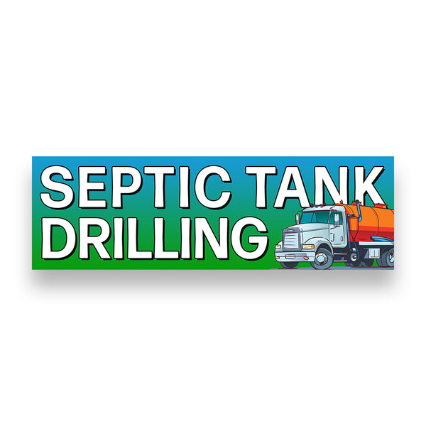 SEPTIC TANK DRILLING Vinyl Banner (Size Options)