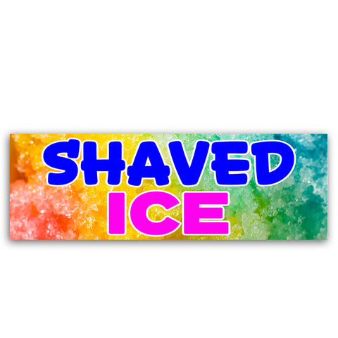 Shaved Ice Vinyl Banner (Size Options)