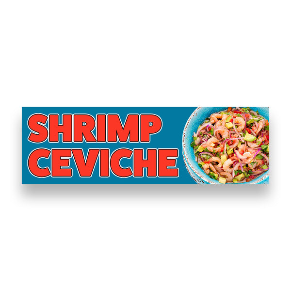 SHRIMP CEVICHE Vinyl Banner (Size Options)