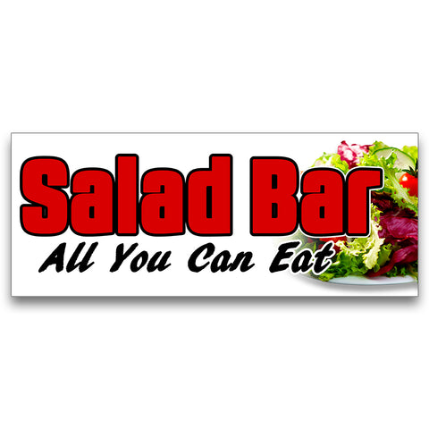Salad Bar Vinyl Banner (Size Options)