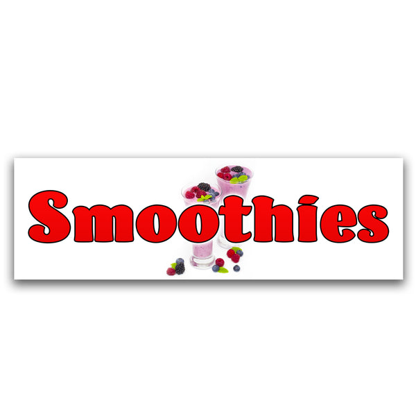 Smoothies Vinyl Banner (Size Options)