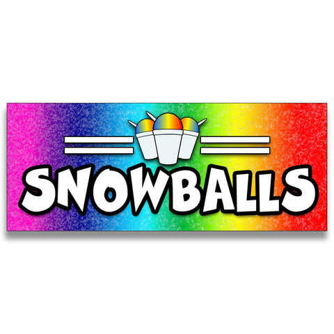 Snowballs Vinyl Banner (Size Options)