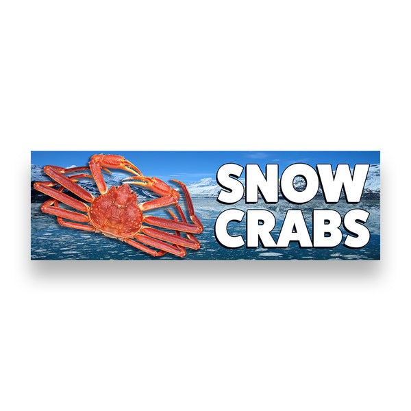 SNOW CRABS Vinyl Banner (Size Options)