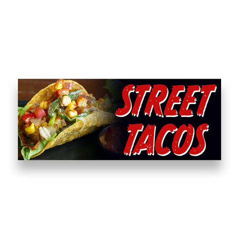 STREET TACOS  Vinyl Banner (Size Options)