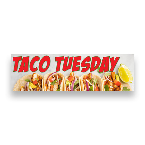 Taco Tueday Vinyl Banner (Size Options)
