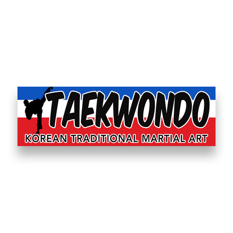 TAEKWONDO Vinyl Banner (Size Options)