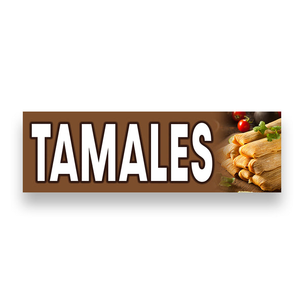 TAMALES  Vinyl Banner (Size Options)