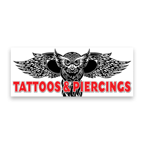 Tattoo Piercings Vinyl Banner (Size Options)