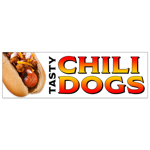 Chili Dogs Vinyl Banner (Size Options)
