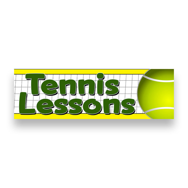 TENNIS LESSONS Vinyl Banner (Size Options)