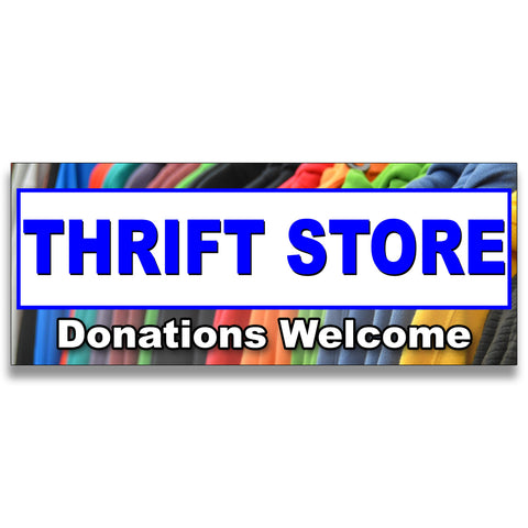 Thrift Store Vinyl Banner (Size Options)