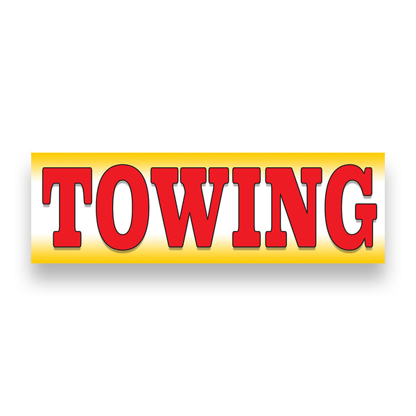 Towing Vinyl Banner (Size Options)