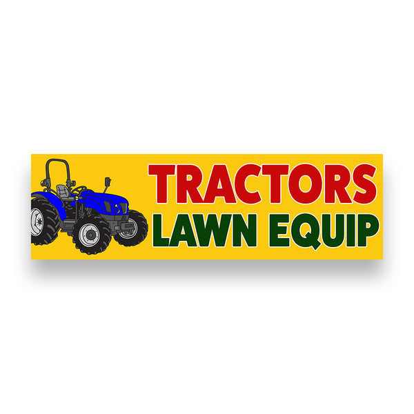 TRACTORS LAWN EQUIPMENT Vinyl Banner (Size Options)