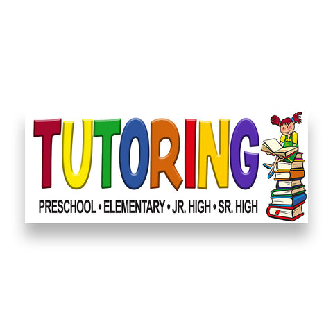 TUTORING Vinyl Banner (Size Options)