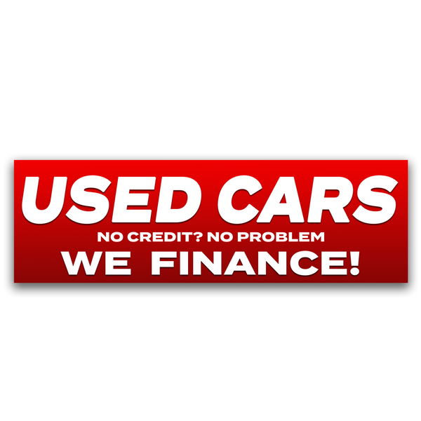 Used Cars we finance Banner (Size Options)