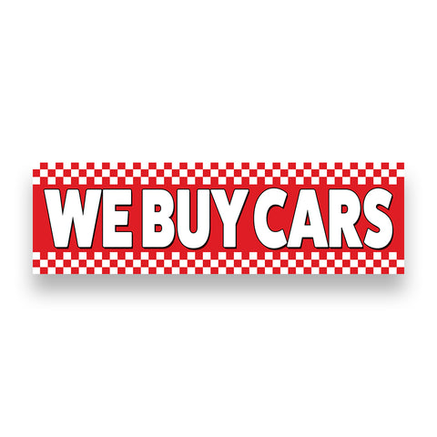 WE BUY CARS Vinyl Banner (Size Options)
