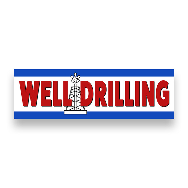 WELL DRILLING Vinyl Banner (Size Options)