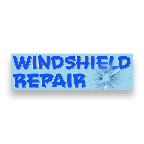 WINDSHIELD REPAIR Vinyl Banner (Size Options)