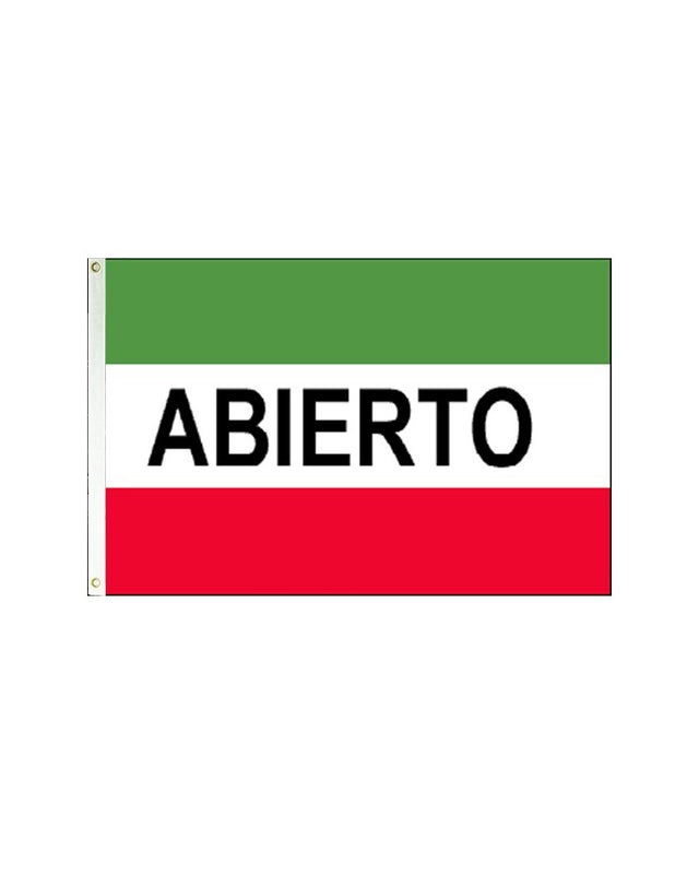 Abierto 3x5 Polyester Flag