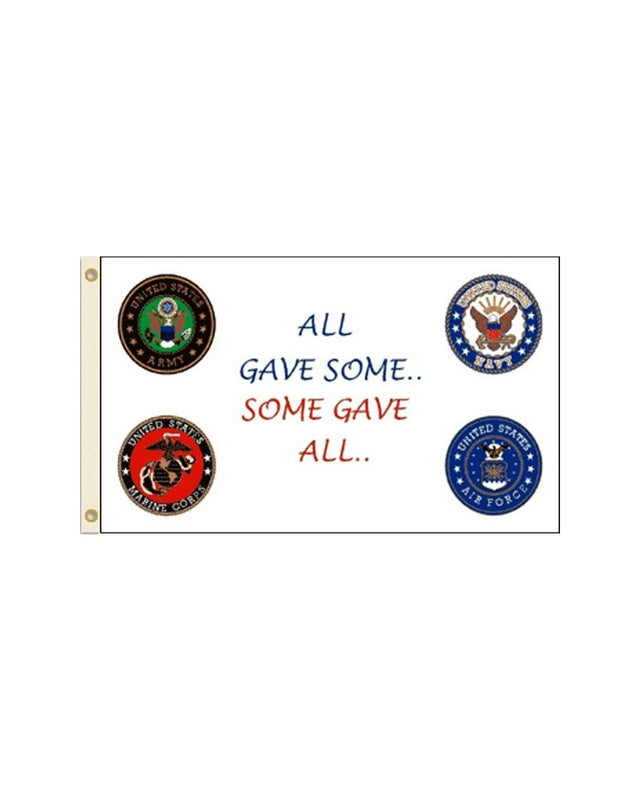 All Gave Some...Some Gave All 3x5 Polyester Flag