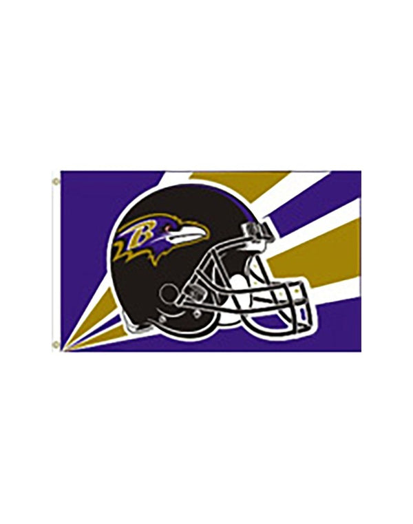 "Baltimore Ravens ""Helmet"" 3x5 Flag"
