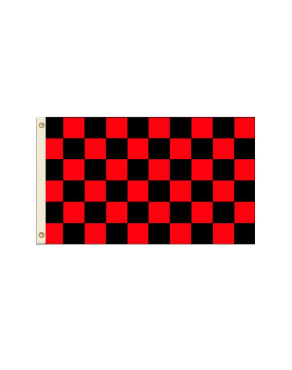 Black and Red Checkered 3x5 Polyester Flag