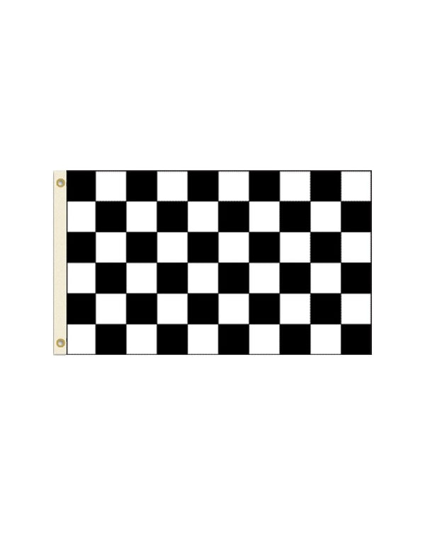 Black and White Checkered 3x5 Polyester Flag