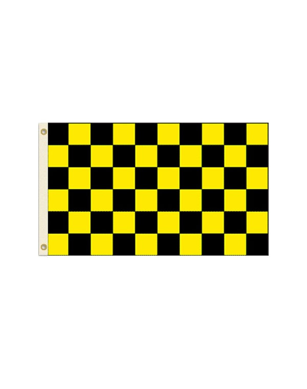 Black and Yellow Checkered 3x5 Polyester Flag