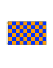 Blue and Orange Checkered 3x5 Polyester Flag