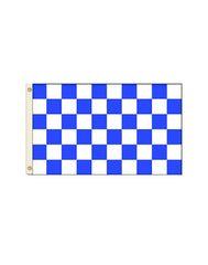 Blue and White Checkered 3x5 Polyester Flag