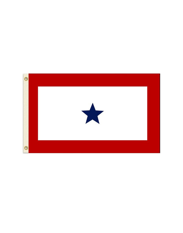 Blue Star Service 3x5 Polyester Flag