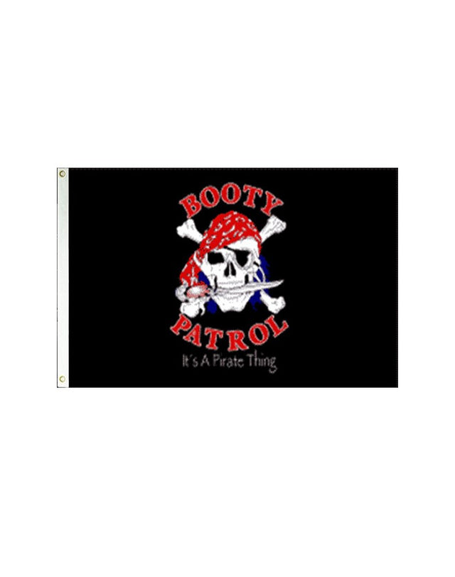 Booty Patrol Pirate 3x5 Polyester Flag