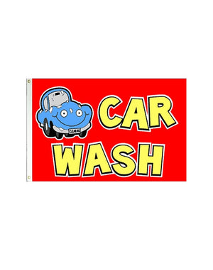 Car Wash (Red) 3x5 Polyester Flag