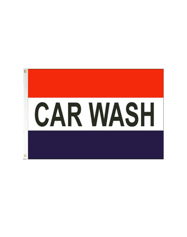 Car Wash (Red, White & Blue) 3x5 Polyester Flag