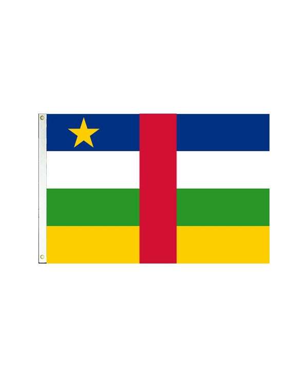 Central African Republic 3x5 Polyester Flag