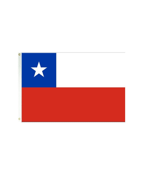 Chile 3x5 Polyester Flag