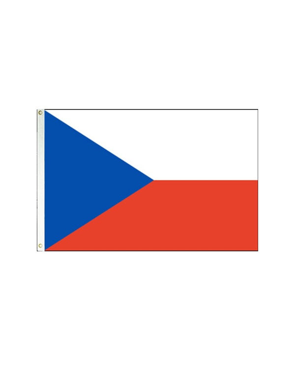 Czech Republic 3x5 Polyester Flag