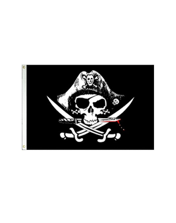 Deadman's Chest Tricorner Pirate 3x5 Polyester Flag