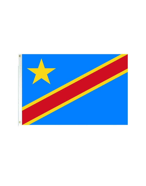Democratic Republic of Congo 3x5 Polyester Flag