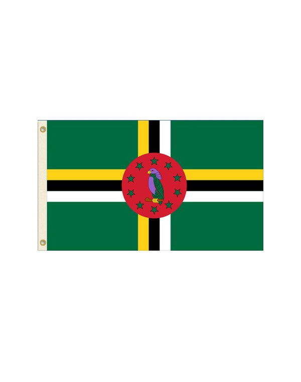 Dominica 3x5 Polyester Flag
