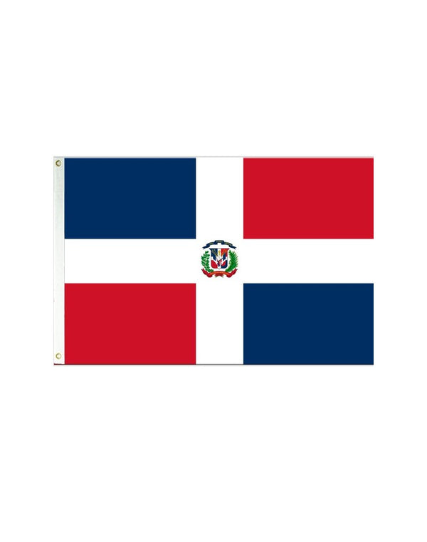Dominican Republic 3x5 Polyester Flag