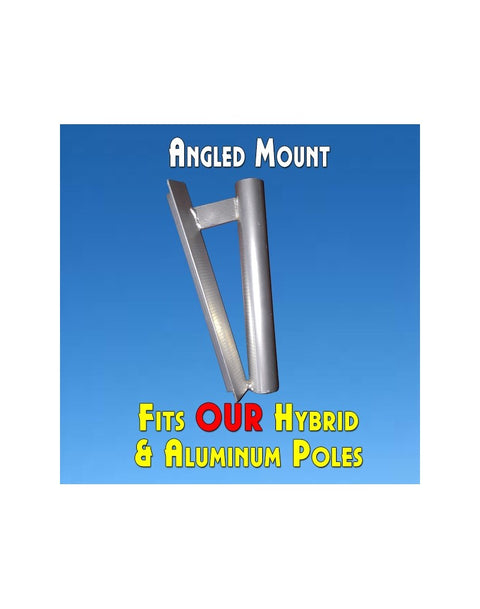 Feather Banner Angled Pole Mount (for Flutter and Windless Poles)