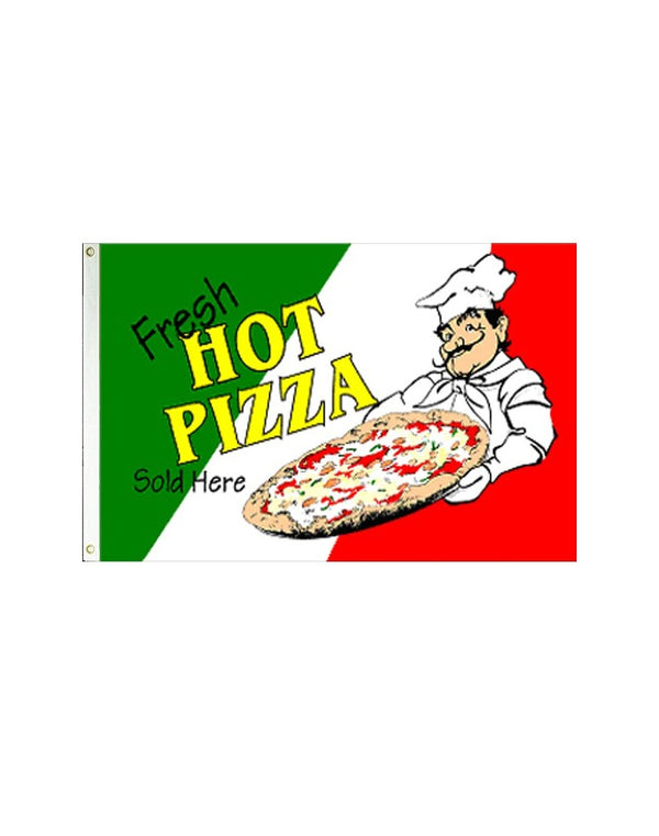 Fresh Hot Pizza 3x5 Polyester Flag