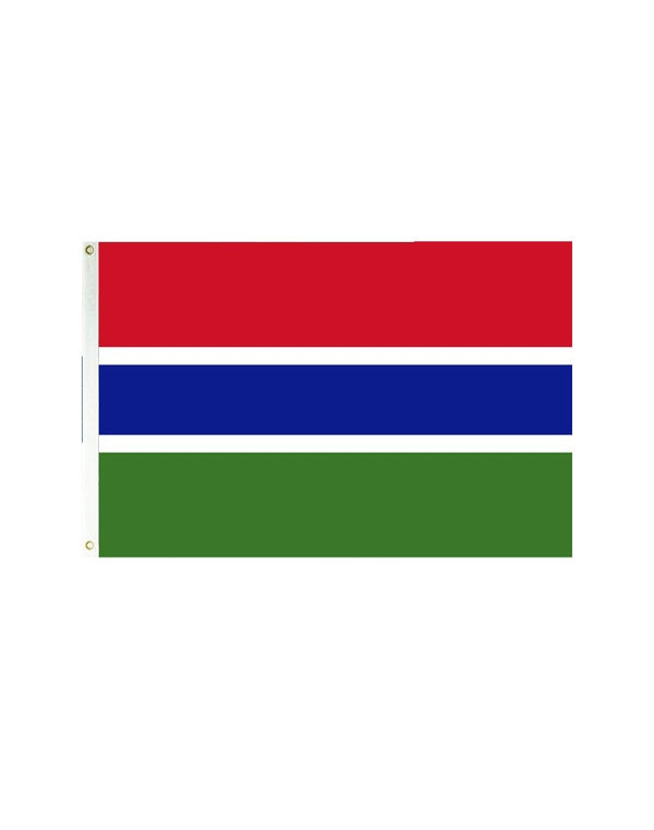 Gambia 3x5 Polyester Flag