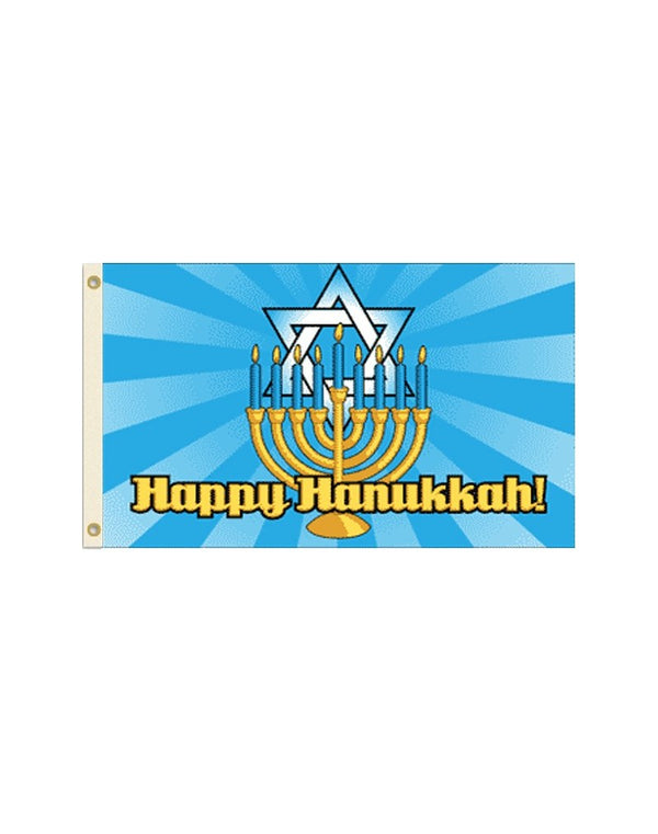Happy Hanukkah 3x5 Polyester Flag